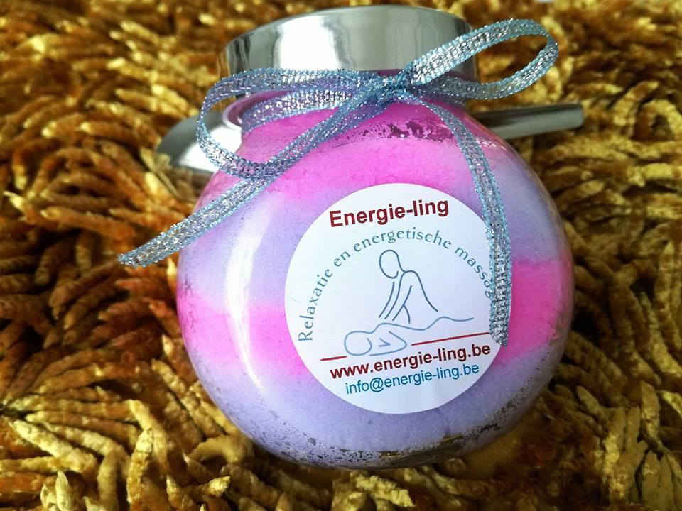 Bodyscrub mix met kersenbloesem en lavendel 300 G + lepeltje Image