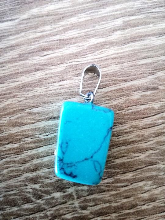 Turkoois edelsteen hanger + halsketting Image