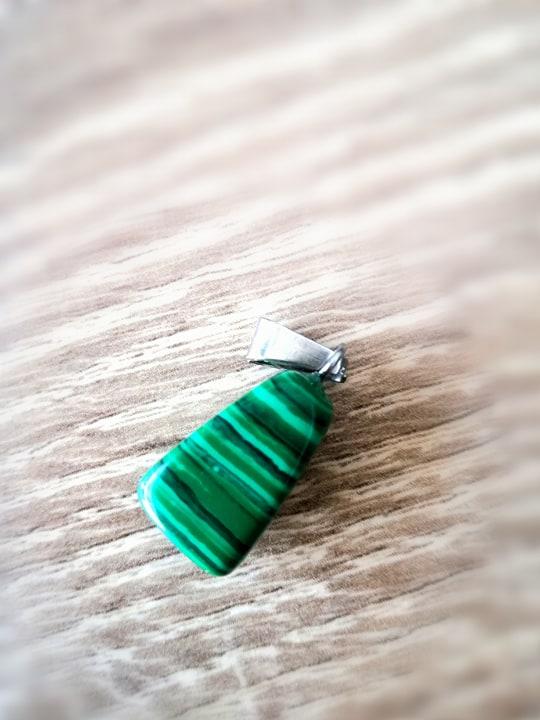 Malachiet edelsteen hanger + halsketting Image
